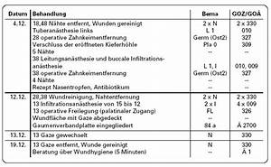 Abrechnung Privatpatienten Goä : aktuelle fallbeispiele kieferorthop disch bedingte operationen ~ Themetempest.com Abrechnung