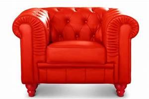 fauteuil chesterfield cuir rouge fauteuils classiques With fauteuil club rouge pas cher