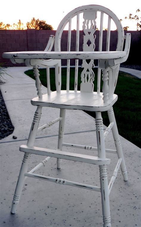 bit of paint refinished antique high chair