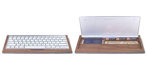 bureau avec tablette pour clavier tablette clavier avec rangement et autres accessoires en bois