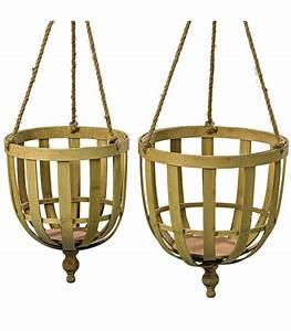 Cache Pot Suspendu : set de 2 cache pots suspendus en bambou ~ Teatrodelosmanantiales.com Idées de Décoration