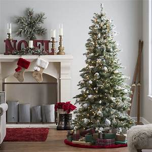 75 Ft Pre Lit Flocked Monteray Pine Christmas Tree With