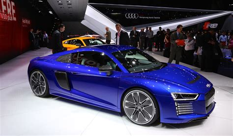 2017 Audi R8 Etron Allelectric Sports Car Live Photos