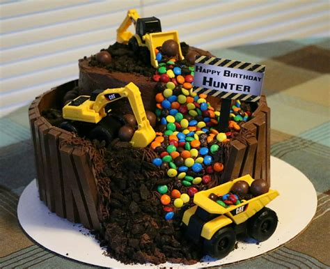 Construction Cake Decorations by Construction Theme Trucks Loaders Bull Dozers