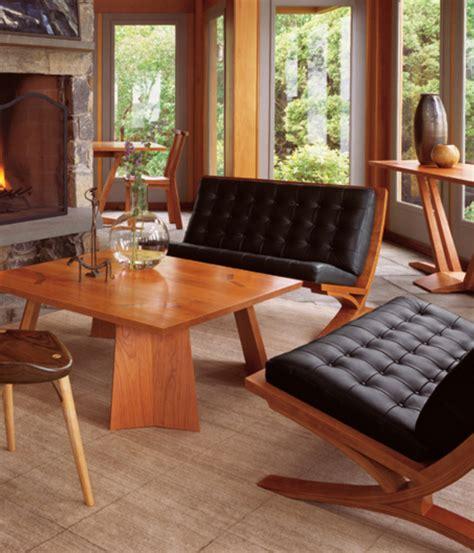 fall house design warm wooden furnitures homemydesign