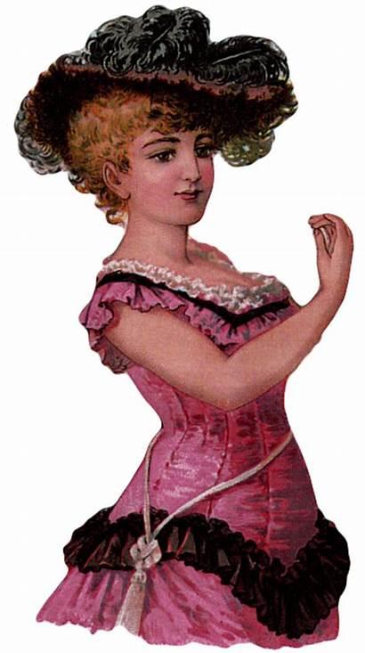 Victorian Lady Roses Woman Printable Digital Ladies
