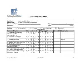 Candidate Evaluation Worksheet Application Rating Sheet Submited Images