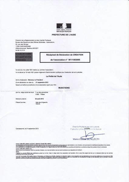 declaration bureau association prefecture r 233 c 233 233 de d 233 claration en pr 233 fecture song