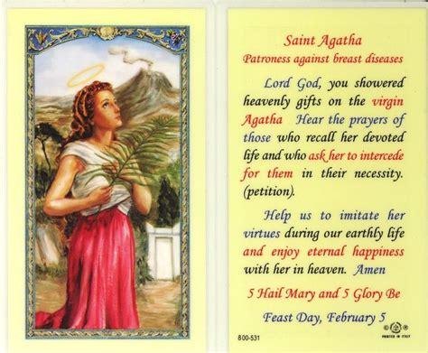 prayer  st agatha saint agatha novena prayers