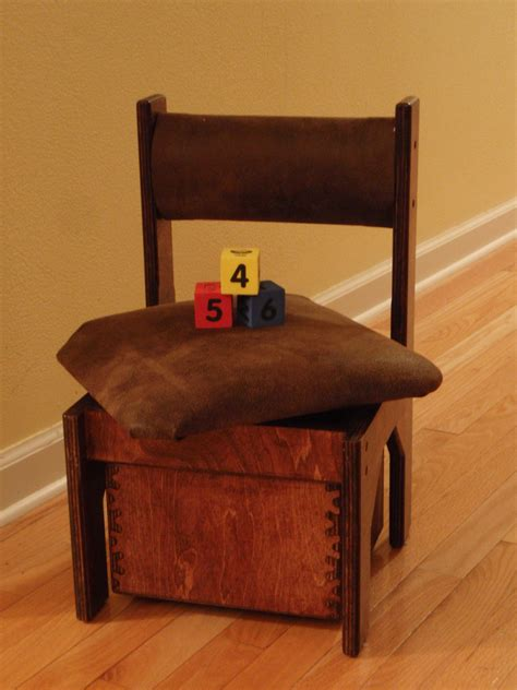 diy low armless chair with storage made from recycled