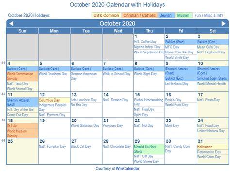 print friendly october calendar printing