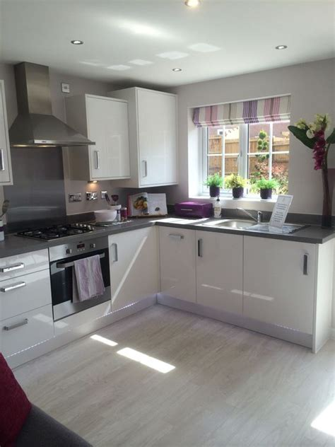 white gloss kitchen ideas pink accents grey and cabinets on