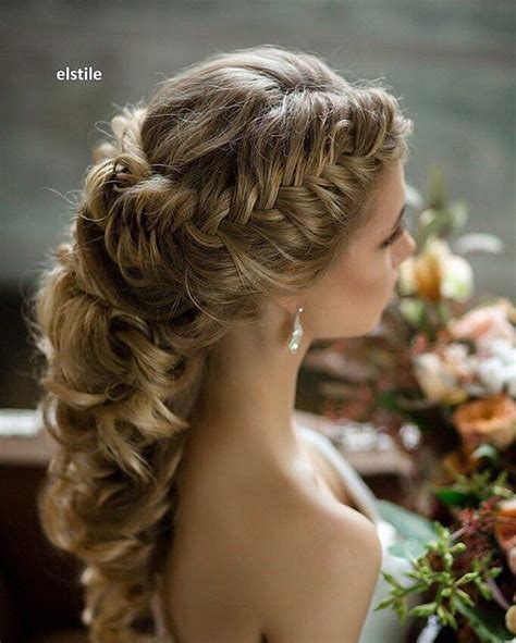 Wedding Half Updo Hairstyles by Pretty Braided Crown Half Up Half Wedding Hairstyles