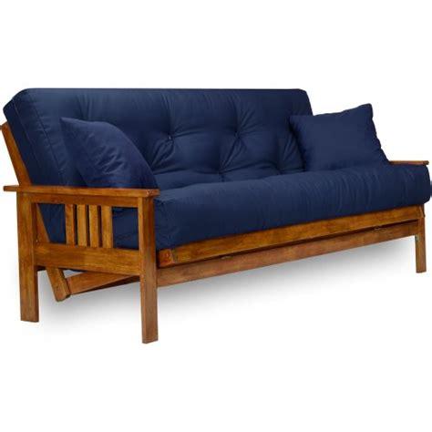 navy blue futon sofa bed cheap stanford futon set queen size frame 8 mattress