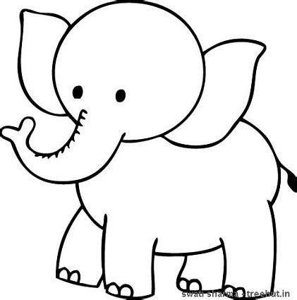 elephant clipart coloring pencil   color elephant