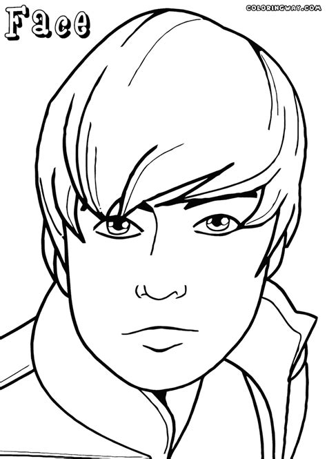 face coloring pages coloring pages    print