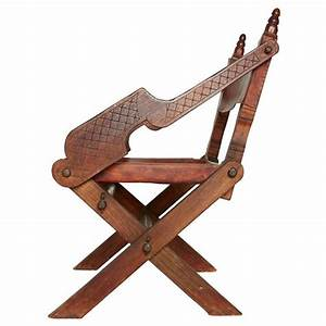Handcrafted Leather and Carved Wood Mexican Modern Chair ...
