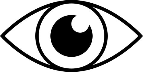 simple eye clipart black and white simple eye line icons png free png and icons downloads
