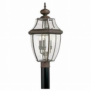 Shop Sea Gull Lighting 3-Light Lancaster Outdoor Post