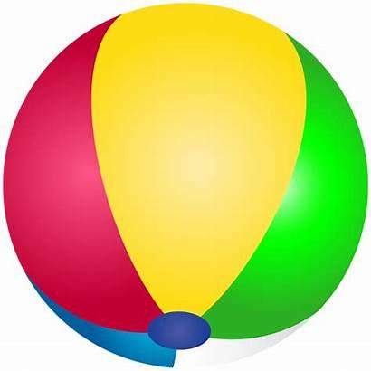 Ball Transparent Beach Clip Clipart Summer Balls