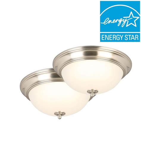 commercial electric 13 in brushed nickel led pack