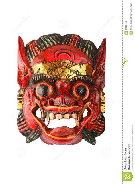 le rouge en bois traditionnel asiatique  peint le masque