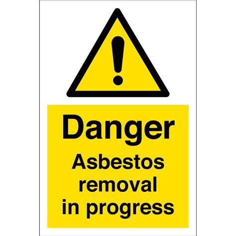 asbestos removal  progress signs  key signs uk
