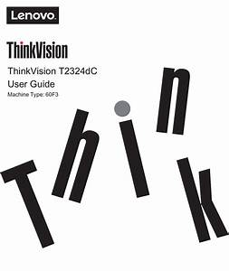 Thinkvision T2324dc User Guide