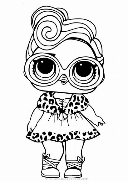 Lol Coloring Printable Pages Doll Dollface Dolls