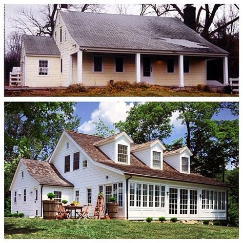 before and after farmhouse renovations 174 best images about ugly house makeovers on pinterest before after home exterior home