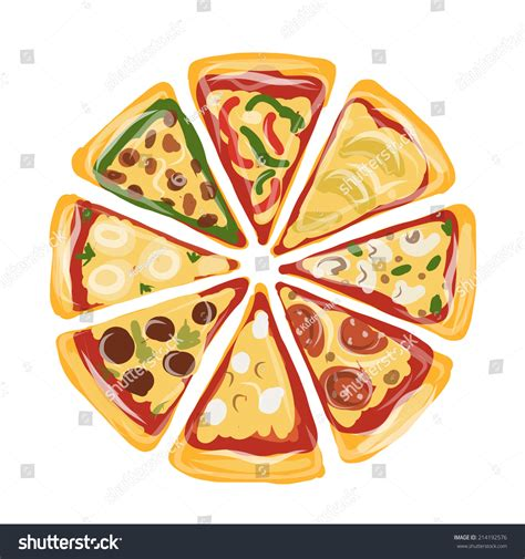 design pizza pieces pizza sketch your design stock vector 214192576 shutterstock