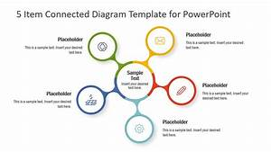 5 Item Connected Diagram Template For Powerpoint
