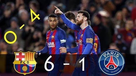 fc barcelona   psg  goals  highlights