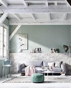 tendance couleur le vert de gris mademoiselle claudine With couleur peinture tendance salon 11 un bureau dans les tons pastel marie claire