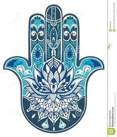 Lotus Hamsa Hand Designs