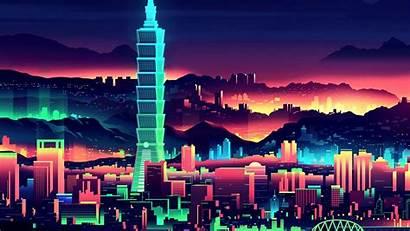 Tower Night Taipei Skyscrapers 1080p Background Laptop