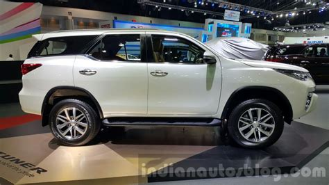 toyota motors india 2016 toyota fortuner side at 2015 thailand motor expo