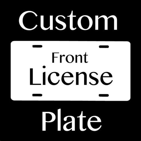 Decorative Front License Plate - zentangle custom front license plate
