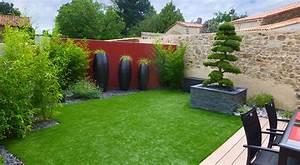 nos realisations de jardin et amenagement d39exterieur en With amenager jardin en pente 7 creer une jolie terrasse avec des paves en pierre