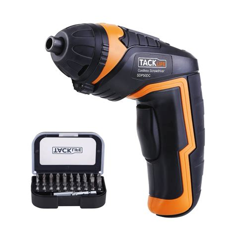 tacklife cordless rechargeable screwdriver  review