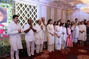 Late actress Sridevi's prayer meet held in Chennai, Janhvi ...