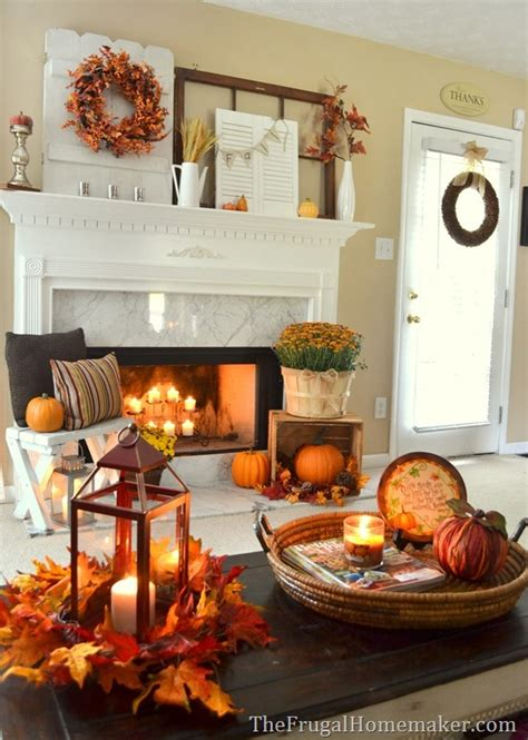 fall room decorating ideas 31 days of fall inspiration fall mantel