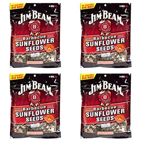 jim beam sunflower seeds jim beam barbecue sunflower seeds quot roasted by bigs quot 5 15 ounce bag pack of 4 food beverages