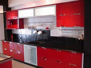 black and red kitchen designs kitchen design ideas with With red kitchen designs photo gallery
