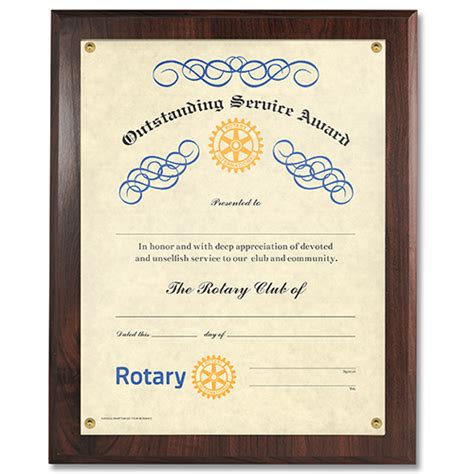Rotary Club Certificate Template by Year End Awards Gifts Rotary Club Supplies