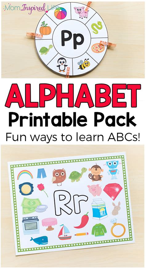 alphabet printables and activities for preschool and 782 | Alphabet Activities Printables Pin Long
