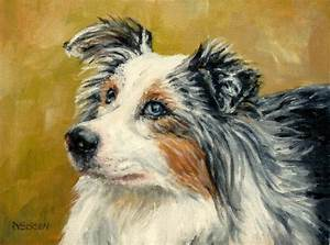 Daily Painting Projects: Aussie Portrait Oil Painting Dog ...