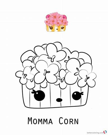 Num Noms Coloring Pages Corn Series Momma