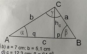 Trigonometrie Berechnen : trigonometrie trigonometrie rechtwinkliges dreieck gamma 90 mit h he hc restliche ~ Themetempest.com Abrechnung