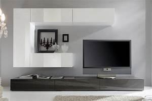 Moderne Wohnwand Hochglanz : wohnwand modern ~ Sanjose-hotels-ca.com Haus und Dekorationen